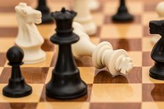 Black White and Brown Chess Board Game Royalty Free Stock Photography