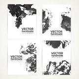 Black and white brush texture hand drawing banners Stock Image