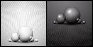 Black and white bubble abstract background Royalty Free Stock Photography