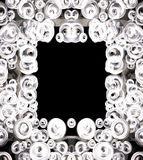 Black and white bubble frame Royalty Free Stock Image
