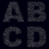 Black and white bubbles alphabets Stock Photography