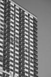 Black and White Building. An architecturally designed inner-city building Royalty Free Stock Photos