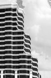 Black and white of building exterior. Background Royalty Free Stock Photography