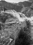 Black and white building. I use black and white colors to show the majestic Great Wall and the feeling of history stock photo