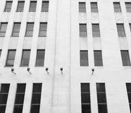 Black and white building windows architecture detail Royalty Free Stock Image