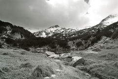 Black and white bulgarian nature Royalty Free Stock Photo