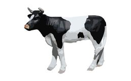 Black and white bull illustration Royalty Free Stock Image