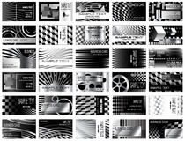 Black and White Business Cards Stock Image