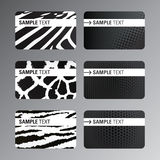 Black white business cards. Set of black white business cards Stock Photos