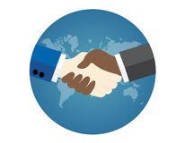 Black and white business man hand shaking Royalty Free Stock Image