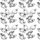 Black-white butterflies Stock Photos