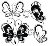 Black and white butterflies Royalty Free Stock Photo