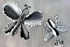 Black and white butterflies. Stock Photography