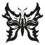 Black and white butterflies.Tattoo design. Vector  Royalty Free Stock Images