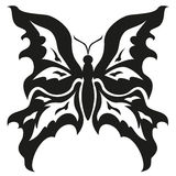 Black and white butterflies.Tattoo design. Vector  Royalty Free Stock Photos
