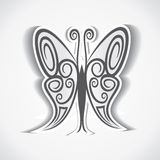 Black and white butterfly background.  Royalty Free Stock Photos