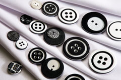 Black and white buttons Royalty Free Stock Photography