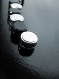 Black and White Buttons Royalty Free Stock Photos