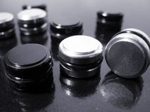 Black and White Buttons Royalty Free Stock Images