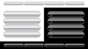Black and white buttons for web Royalty Free Stock Photos