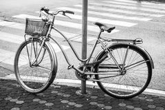 Black and white Bycicle Stock Images