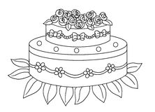 Black and white - cake royalty free stock photo