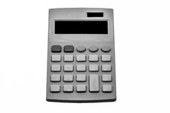 Black and white calculator on white background Stock Image