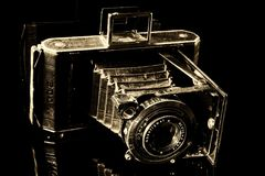 Black And White, Camera, Photography, Single Lens Reflex Camera Royalty Free Stock Image