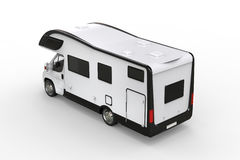 Black and white camper vehicle - taillight view Royalty Free Stock Photos