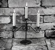Black and white candles Royalty Free Stock Images