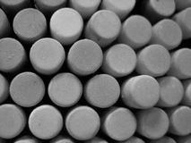 Black and white Caps Royalty Free Stock Images