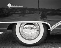 Black and White Car Wheel Stock Photography