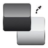 Black and white carbon fiber Stock Image