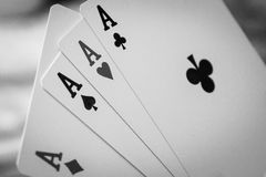 Black and white card Royalty Free Stock Images
