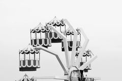 Black and white carnival ride Royalty Free Stock Photos