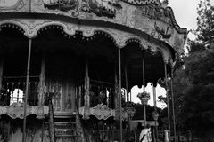 Black and white carousel stock images