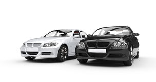 Black And White Cars Stock Photography
