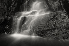 Black and White Cascade. At Snook Kill Falls royalty free stock photography