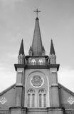 Black and White Catholic Church royalty free stock photo