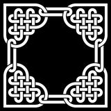 Black and white Celtic knot frame, made of heart shaped knots Royalty Free Stock Image