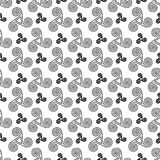 Black and white celtic triskels seamless pattern Stock Photography