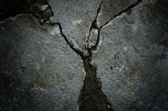 Black and white cement cracked background Stock Photos