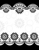 Black-white_center decorativo del confine Fotografie Stock Libere da Diritti