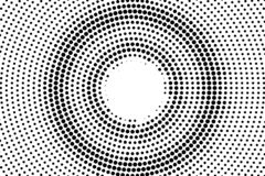 Black on white center halftone vector. Digital dotted texture. Contrast dotwork gradient for vintage effect. Monochrome halftone overlay for cartoon effect royalty free illustration