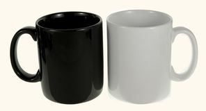Black and white ceramic mug Stock Images