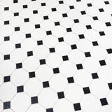 Black and white ceramic tiles floor Stock Images