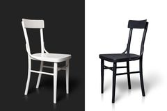 Black and white chairs Royalty Free Stock Photo