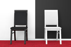 Black and White Chairs Stock Photo