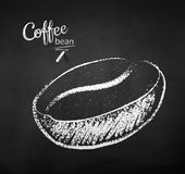 Black and white chalk sketch of coffee beans royalty free illustration