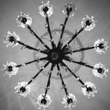 Black and White Chandelier Stock Photo